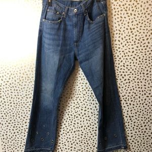 RAG AND BONE hyfield eyelet jeans SIZE 28